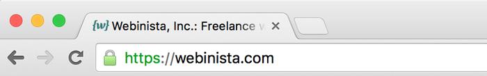 HTTPS indicator in Chrome