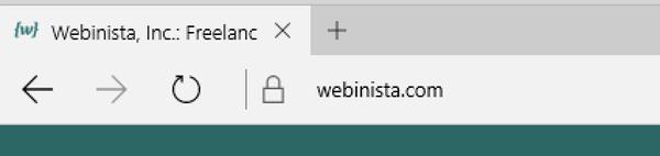 HTTPS indicator in Microsoft Edge